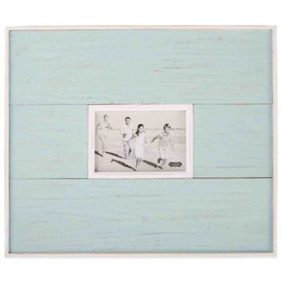 mud pie distressed beach 4 inch x 6 inch picture frame in blue