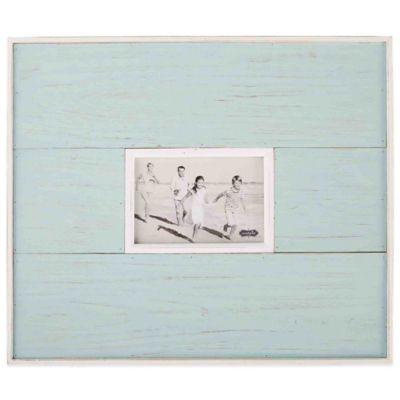 mud pie distressed beach 4 inch x 6 inch picture frame in blue