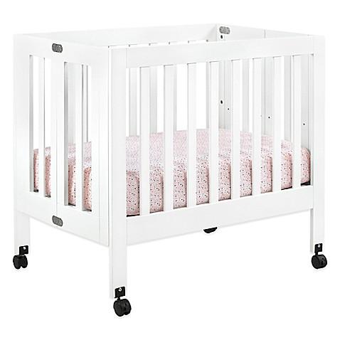 Babyletto Origami Mini Crib In White Buybuy Baby