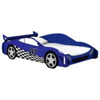 Legare® Blue Racer Car Twin Bed in Blue