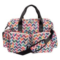 Trend Lab French Bull Deluxe Chevron Duffle Diaper Bag in Multicolor