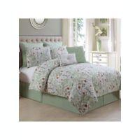 Evangeline 8-Piece Queen Comforter Set in Sage
