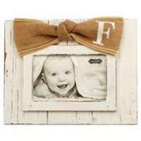 """Mud Pie® Letter """"F"""" 4-Inch x 6-Inch Bow Picture Frame"""