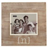 "Mud Pie® Letter ""N"" 8-Inch x 10-Inch Wood Picture Frame"