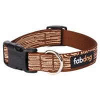 Fab Dog Faux Bois Small Collar in Brown