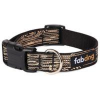 Fab Dog Faux Bois Small Collar in Black