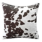 Weston Animal Faux Hide Print Throw Pillow in Brown (Set of 2)