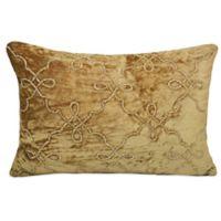 Velvet Crystal Beaded Trellis Throw Pillow