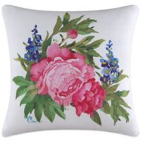 Peony Blossoms Printed Throw Pillow