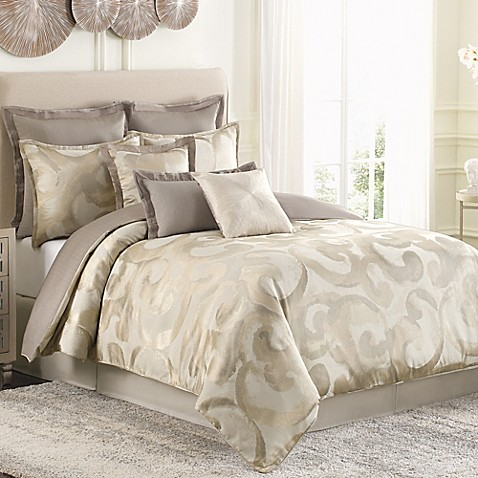 Raymond Waites Sawyer Comforter Set In Taupe Bed Bath