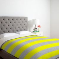 DENY Designs Holli Zollinger Bright Stripe Twin Duvet Cover in Yellow