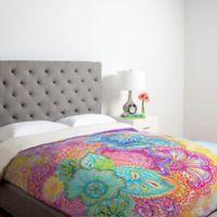 DENY Designs Stephanie Corfee Flourish Queen Duvet Cover in Pink