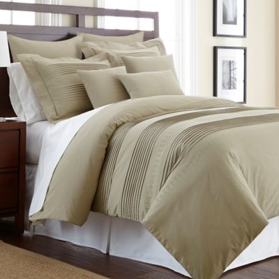 Salvatore King Duvet Cover Set With Swarovski Crystals In Taupe