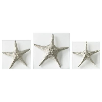 Incroyable Uttermost Silver Starfish Wall Art (Set Of 3)