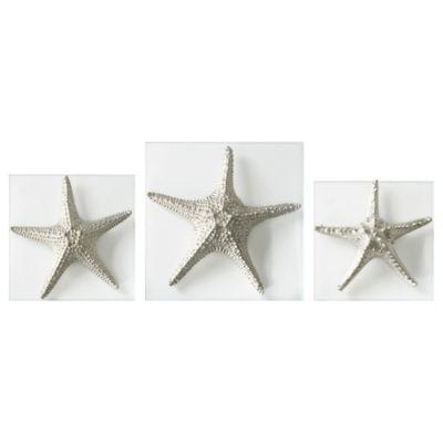 Merveilleux Uttermost Silver Starfish Wall Art (Set Of 3)
