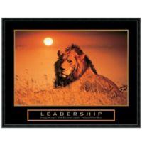 Leadership Lion Framed Print Wall Art