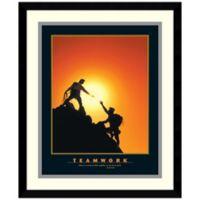 Teamwork Climbers Framed Print Wall Art