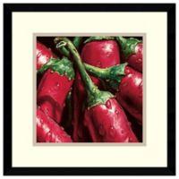 Alma'Ch Hot Peppers Framed Art Print