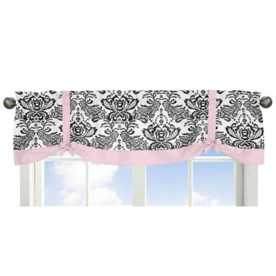 buy pink black valance from bed bath & beyond