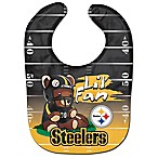 "NFL Pittsburgh Steelers ""Lil' Fan"" Teddy Bear Bib"