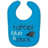 "NFL Carolina Panthers ""I Drool Blue & Black"" Bib"