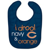 "NFL Chicago Bears ""I Drool Navy & Orange"" Bib"