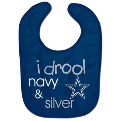 NFL Dallas Cowboys  quot I Drool Navy  amp  Silver quot  Bib. Buy Dallas Cowboys from Bed Bath  amp  Beyond