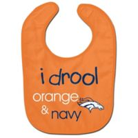 """NFL Denver Broncos """"I Drool Orange & Navy"""" Bib"""