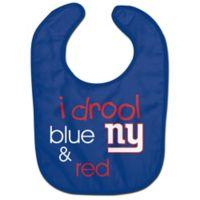 "NFL New York Giants ""I Drool Blue & Red"" Bib"