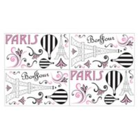Sweet Jojo Designs Paris Wall Decals