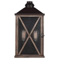 Feiss Lumiere Wall-Mount 19-Inch Outdoor Lantern in Dark Weathered Oak