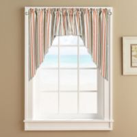 Regatta Stripe Window Curtain Swag Valance