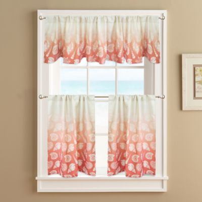 Perfect Seashell Window Curtains From Bed Bath Beyond