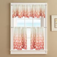 Seascape Lined 36-Inch Window Curtain Tier Pair