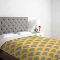 DENY Designs Caroline Okun Jaune King Duvet Cover in Yellow