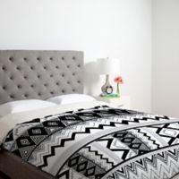 DENY Designs Kris Tate Wipil 3 Twin Duvet Cover in Black