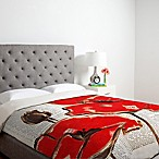 Deny Designs Irena Orlov Red Perfection Twin Duvet Cover in Cream
