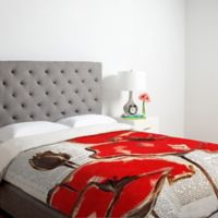 DENY Designs Irena Orlov Red Perfection King Duvet Cover in Cream