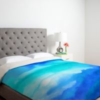 DENY Designs Jacqueline Maldonado Rise 2 King Duvet Cover in Blue