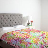 DENY Designs Joy Laforme Abstract Tropics I Queen Duvet Cover in Pink