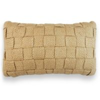Hemp Weave Oblong Throw Pillow in Linen