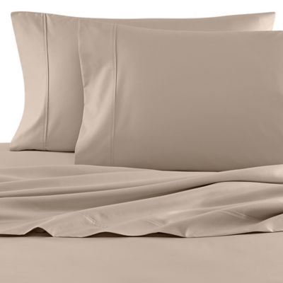 wamsutta 620 egyptian cotton deep pocket twin sheet set in canvas