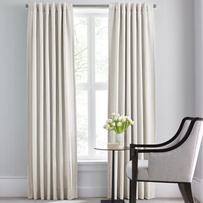 Barbara Barry Modern Drape Rod Pocket/Back Tab 84 Inch Window Curtain Panel  In Part 8