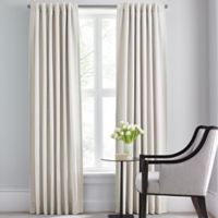 Barbara Barry Modern Drape Rod Pocket/Back Tab 95-Inch Window Curtain Panel in Off-White