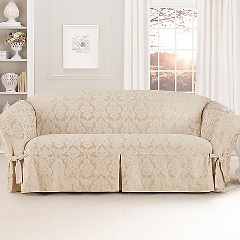 Sure Fit® Relaxed Fit Middleton 1 Piece Sofa Slipcover