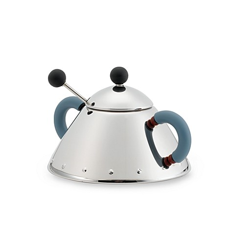 Alessi michael graves sugar bowl with spoon bed bath for Alessi outlet on line