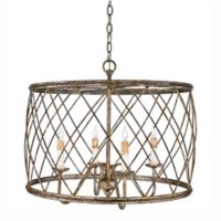 Quoizel Dury 4-Light Pendant in Century Silver Leaf Finish