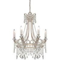 Quoizel Tricia 6-Light Ceiling-Mount Chandelier in Vintage Silver