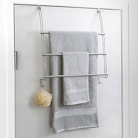 Totally bath over the door towel bar bed bath beyond for Bathroom towel storage