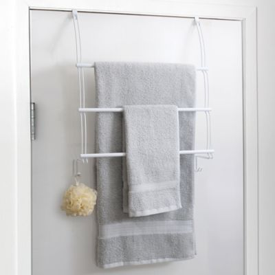 Totally Bath Over The Door Towel Bar In White